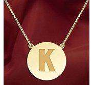 Initial  K  Designer Pendant