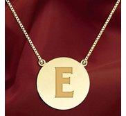 Initial  E  Designer Pendant