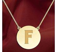 Initial  F  Designer Pendant