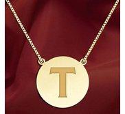 Initial  T  Designer Pendant