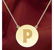 Initial  P  Designer Pendant