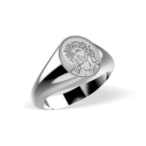 Ecce Homo Signet Ring  EXCLUSIVE
