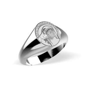 Saint Mother Teresa Signet Ring  EXCLUSIVE