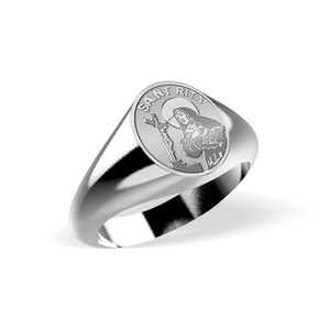 Saint Rita Signet Ring  EXCLUSIVE
