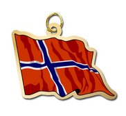 Norway Flag Charm