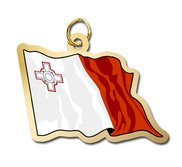 Malta Flag Charm