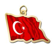 Turkey Flag Charm