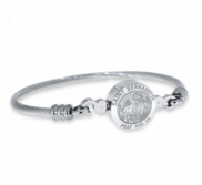 Stainless Steel Saint Bernadette Bangle Bracelet