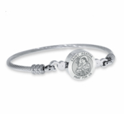 Stainless Steel Saint Agatha Bangle Bracelet
