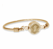 Stainless Steel Saint Christopher Bangle Bracelet