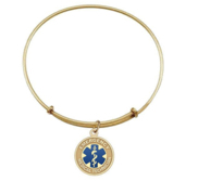 Blue Enameled EMT Expandable Bracelet