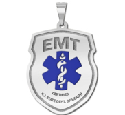 Personalized Certified EMT Pendant with Your Department