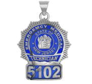 Personalized EMT Badge with Your Number   State or City