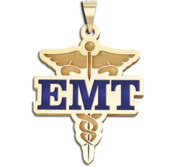 Caduceus EMT Pendant with or without Blue Enamel