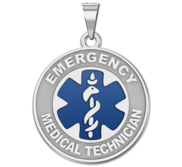Sterling Silver EMT Medical ID Charm or Pendant