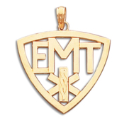 Emergency Medical Technchian   Cut Out EMT Shield PENDANT or Charm