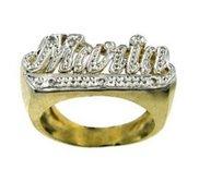 Diamond Woman s Name Ring