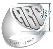 Shield Classic Embossed Monogram Ring