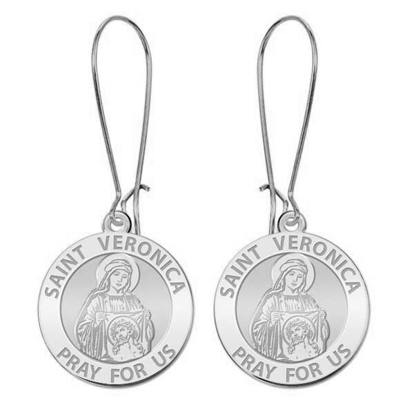 PicturesOnGold.com Saint Veronica Religious Medal or Sterling Silver Available in Solid 14K Yellow or White Gold