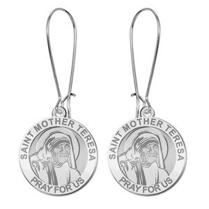 Saint Mother Teresa Religous Earrings  EXCLUSIVE