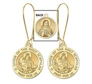 Scapular Medal  Double Sided  Earrings  EXCLUSIVE