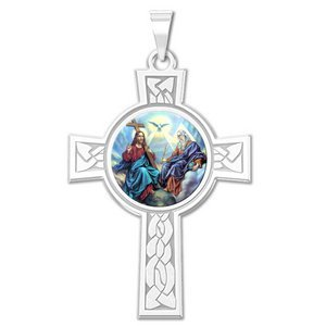 Holy Trinity Cross Religious Medal   Color EXCLUSIVE