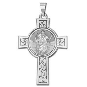 Saint Christopher Cross Religious Medal   EXCLUSIVE