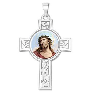 Ecce Homo Cross Religious Medal   Color EXCLUSIVE