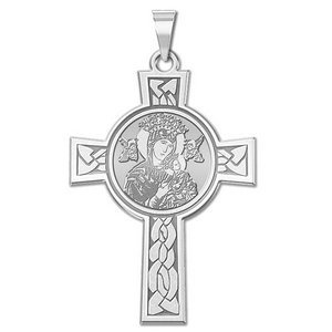 Our Lady of Perpetual Help Cross Religious Medal   EXCLUSIVE