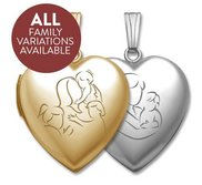 Build Your Own Gold 2 Picture Mom Heart Locket