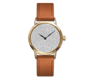 Custom Swiss QuartzLine Fingerprint Leather Band Watch