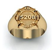 Personalized Fire Badge Ring
