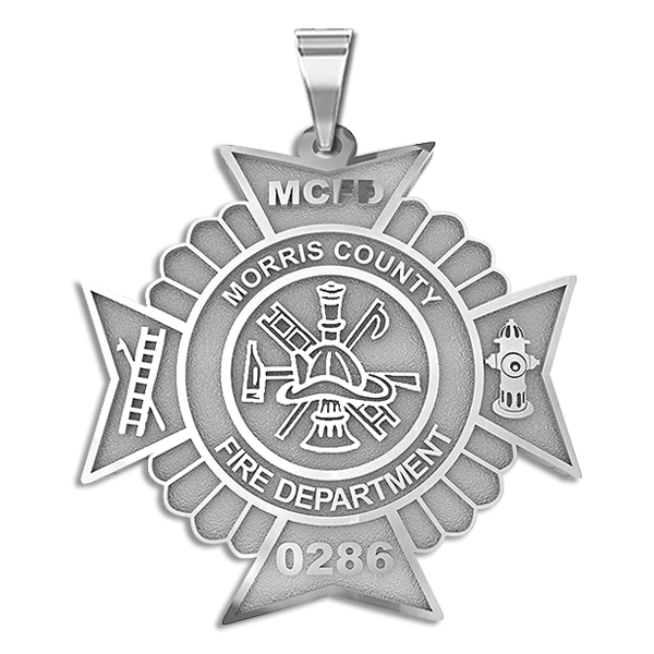 Maltese Cross Firefighter Badge With