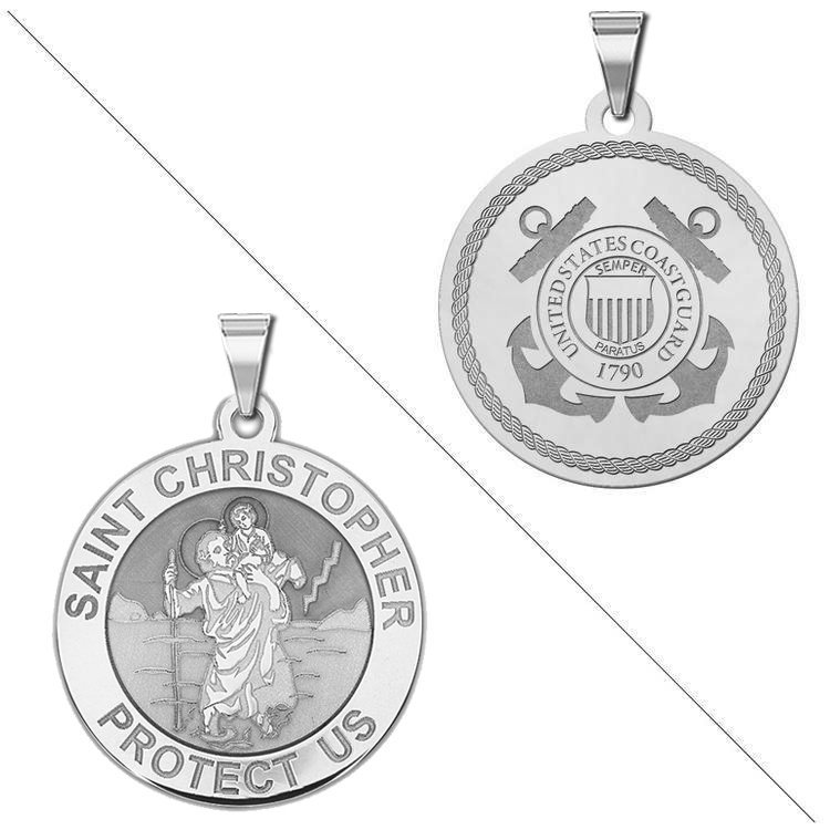 PicturesOnGold.com Racing Saint Christopher Doubledside Sports Religious Medal