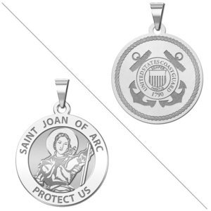 Saint Joan of Arc Doubledside COAST GUARD Religious Medal  EXCLUSIVE