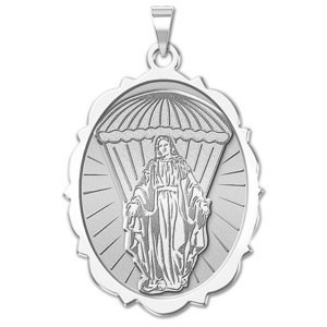 Virgin Mary Paratrooper Religious Medal   EXCLUSIVE