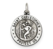 Sterling Silver St Christopher US Army Medal