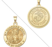 My Guardian Angel Doubledside MARINES Religious Medal  EXCLUSIVE