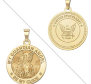 My Guardian Angel Doubledside NAVY Religious Medal  EXCLUSIVE