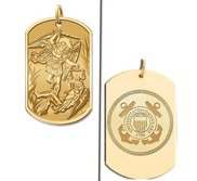 Saint Michael Doubledside COAST GUARD Dogtag Religious Medal  EXCLUSIVE