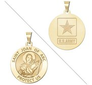 Saint Joan of Arc Doubledside ARMY Religious Medal  EXCLUSIVE