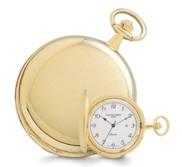 Gold Plated Polished Finish Hunter Case Quartz Pocket Watch