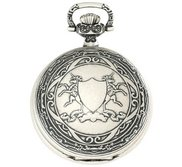 Charles Hubert Paris Antique Chrome Finish Hunter Case Mechanical Pocket Watch
