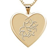 Mother with Two Sons   Heart Pendant
