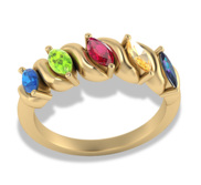 5 Marquise Shaped Birthstone Mother s Personalized Ring