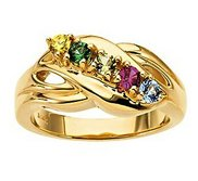 Five Birthstones Mother s Ring