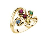 Mother s Ring with Five Birthstones