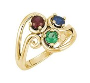 Mother s Ring with Three Birthstones