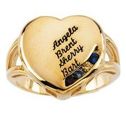 4 Stone Mother s Personalized Heart Ring