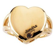 1 Stone Mother s Personalized Heart Ring